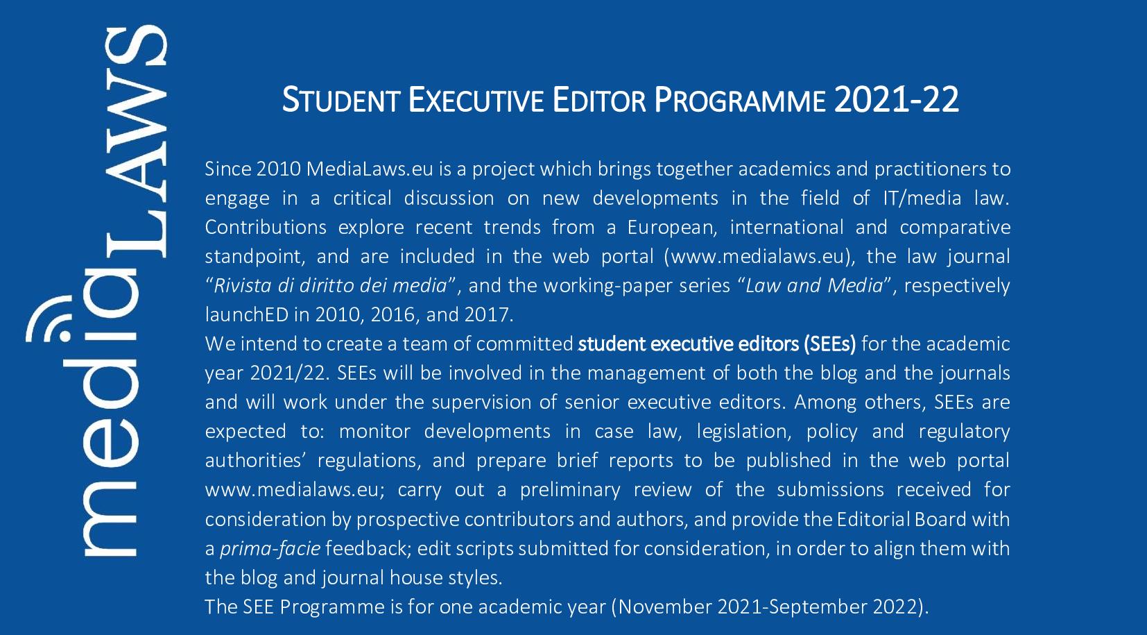 call for editors job vacancy